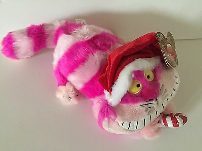 disney parks disneyland paris cheshire cat christmas plush toy new with tags