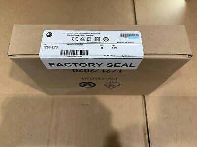 2020 New Sealed Allen Bradley 1756-l73 Ser B Controllogix 8 Mb Controller