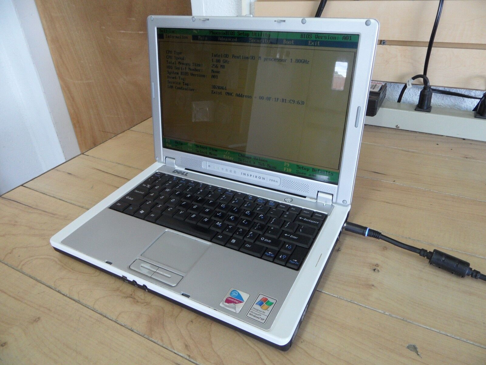 Dell Inspiron 700m Laptop For Parts Posted Bios No Hard Drive *