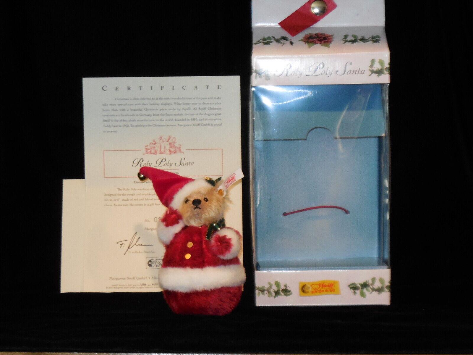 Steiff Roly Poly Santa EAN 037894 LE 2975/5000 USA - $45.00