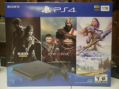 Sony PS4 PlayStation 4 1TB Slim 3 Game Bundle Brand New Sealed