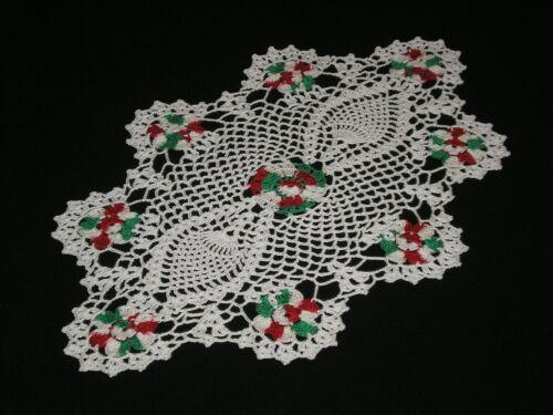 New Handmade Christmas  Doily Crocheted Flowers