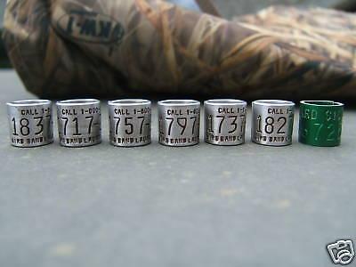 - 7 Duck/Goose 1 Reward Band bands decoy,calls, $100 REWARD duck band