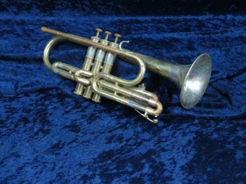 Olds Studio Model Cornet Two Toned Ser#333789 Will Play with an Adjustment