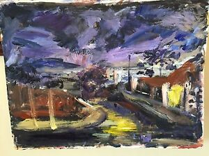 """""""Sydney city twilight"""" mixed media painting Northbridge Willoughby Area Preview"""