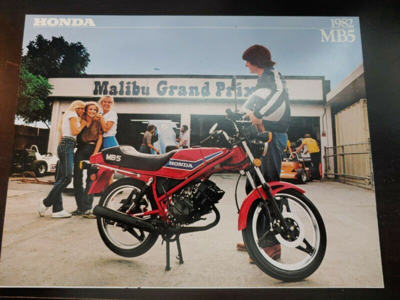 VTG 1982 HONDA MB5 MOTORCYCLE SALES BROCHURE