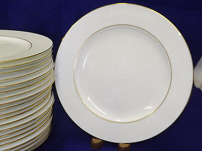 Pfaltzgraff Bone China Royale White with Gold Dinner Plates sold in sets of 4
