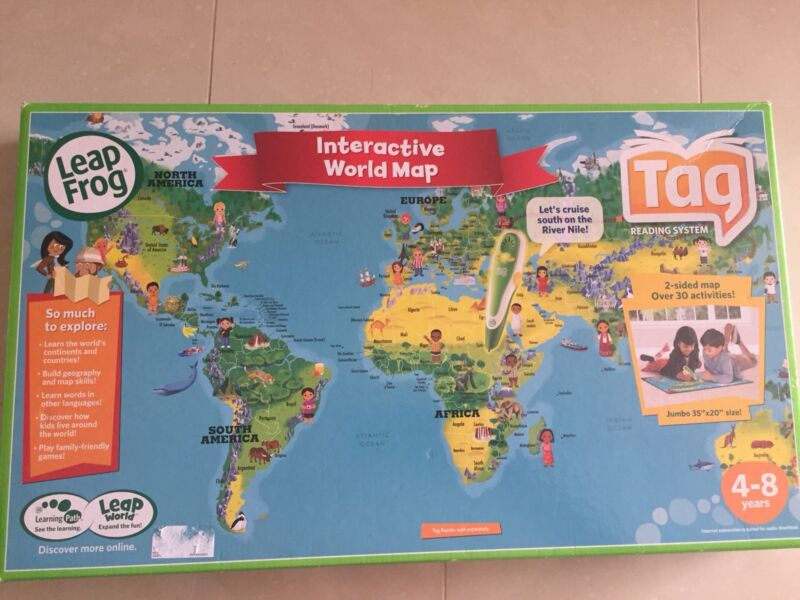 Leapfrog interactive world map other books music games leapfrog interactive world map other books music games gumtree australia south perth area waterford 1183986345 gumiabroncs Choice Image