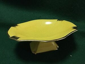 Royal Winton Grimwades Yellow and Gold pedestal dish Highfields Toowoomba Surrounds Preview