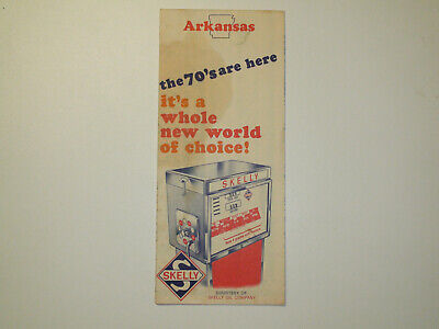 Vintage 1970s SKELLY Arkansas Travel Road Map