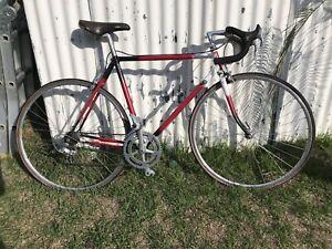 Vintage steel frame road bike