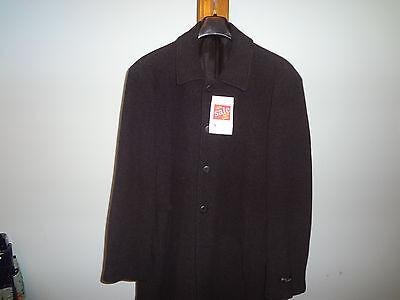 Length Charcoal Top Coat - Hardwick  cashmere/wool blend 3/4 LENGTH top coat  (35