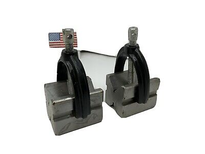Precision V-block And Clamp 1-58 X 1-14 X 1-14 Steel Gauge 2pc India