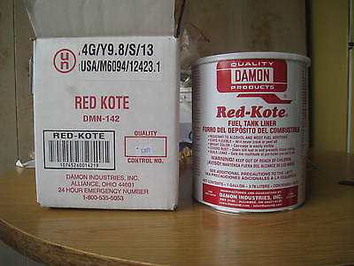 Red Kote Fuel Tank Liner Coat Sealer Gas Oil Diesel 1 Gallon Motorcycles Patch