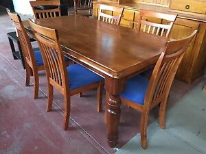 7 piece timber dining setting Breakwater Geelong City Preview