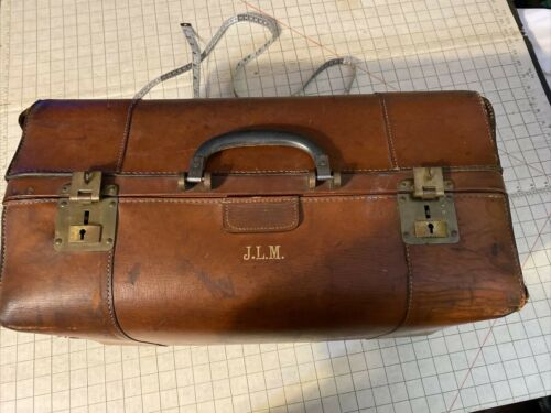 Vintage ELC English Luggage Corp. England Brown Doctor Bags