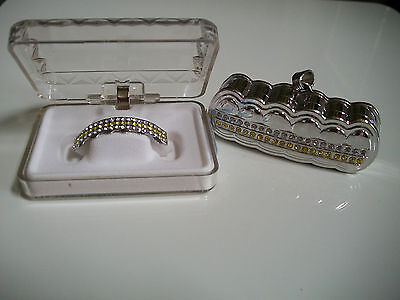 Silver finish Grill For Bottom Teeth Hip Hop Bling Mouth Gri