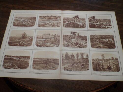 Lithograph Print Civil War Photos Rebel Lines Chattanooga Railroad Atlanta Ga