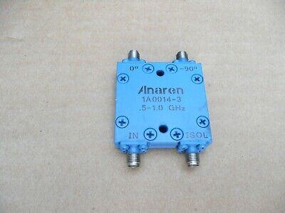 Anaren 1a0014-3 Uhf 90 Degree 3 Db Hybrid Splitter Combiner Sma