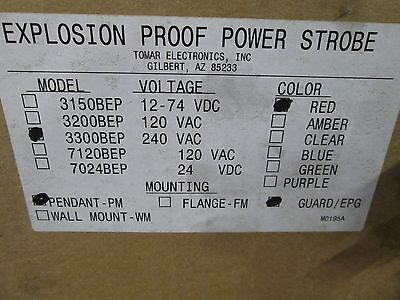 3300-bep-pm-bepg-red Tomar C1 D1 Red Explosion Proof Power Strobe
