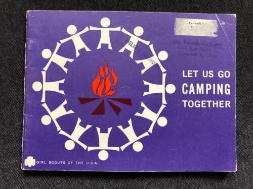 Vintage Girl Scouts LET US GO CAMPING TOGETHER Booklet 1960 Henthorne Cleveland