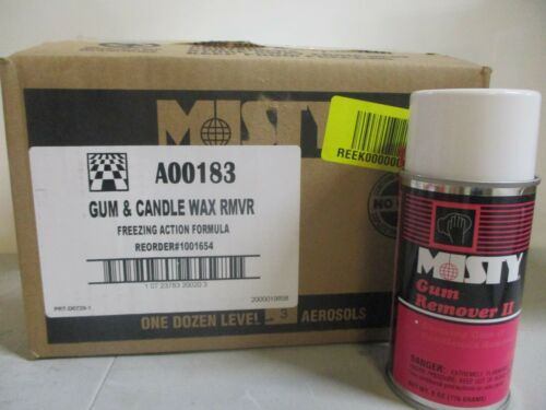 (12 Cans) Misty Gum & Candlewax Remover II A00183 Freezing Action Formula
