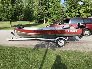 14' Lund Boat, Trailer and Motor