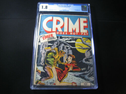 Crime Does Not Pay #33 CGC 1.8 (1944, Lev Gleason)