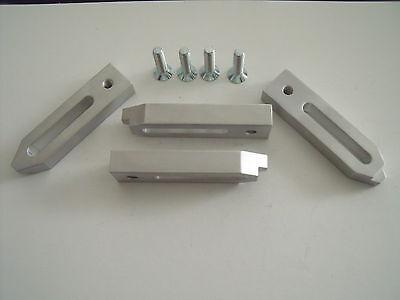 4 Aluminium Spannpratzen mit Spannschrauben M6,Spanneisen,Fräsen,Kress,Gravieren