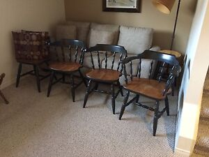 Solid maple chairs ... four