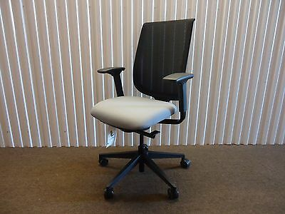 Reply Ergonomic Mesh-back Office Chair By Steelcase Adjustable Black Grey