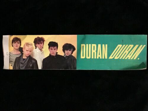 VINTAGE DURAN DURAN Bumper Sticker Decal Early 1980s-Unused