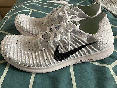 Nike Free Run Flyknit running shoes - white, UK size 11