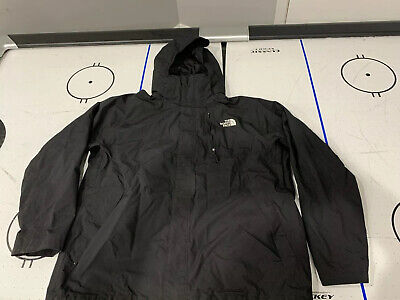 The North Face Mens Black Lightweight Jacket Size Xl With Hood Hyvent