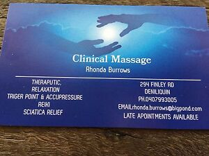 Clinical massage Therapist Deniliquin Murray Area Preview