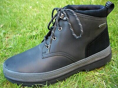 Clarks PLUS* WATERPROOF Rushwaymid Gtx Black Leather Boot Men UK-13 G  EU-48 M Plus Gtx Boot