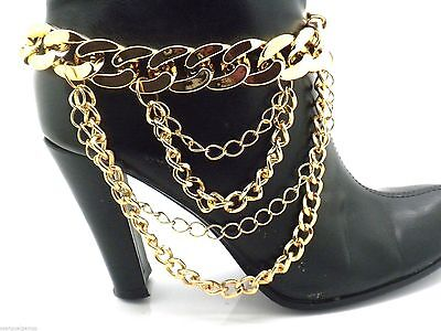 New Anklet Boot Chain Shoe Heels  Women Layered Draped w Extender