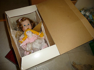 vtg 1989 KATIE`S BEDTIME STORY Brigitte Deval GEORGETOWN Collection Bisque DOLL