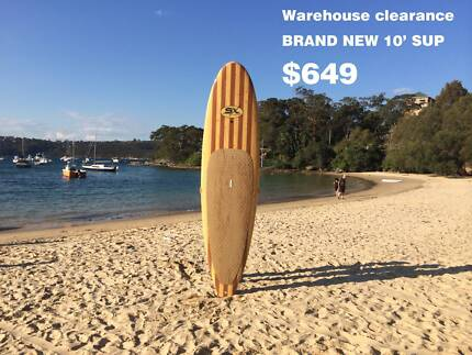 CLEARANCE!!! NEW Wood finish 10' -11' SUP, Stand Up Paddle Board Manly Manly Area Preview