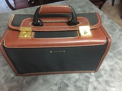 VINTAGE Samsonite Brown with Black Beauty Case