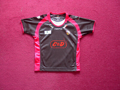 Macron Wakefield Trinity Wildcats Rugby League Shirt/Top/jersey/child JS/small