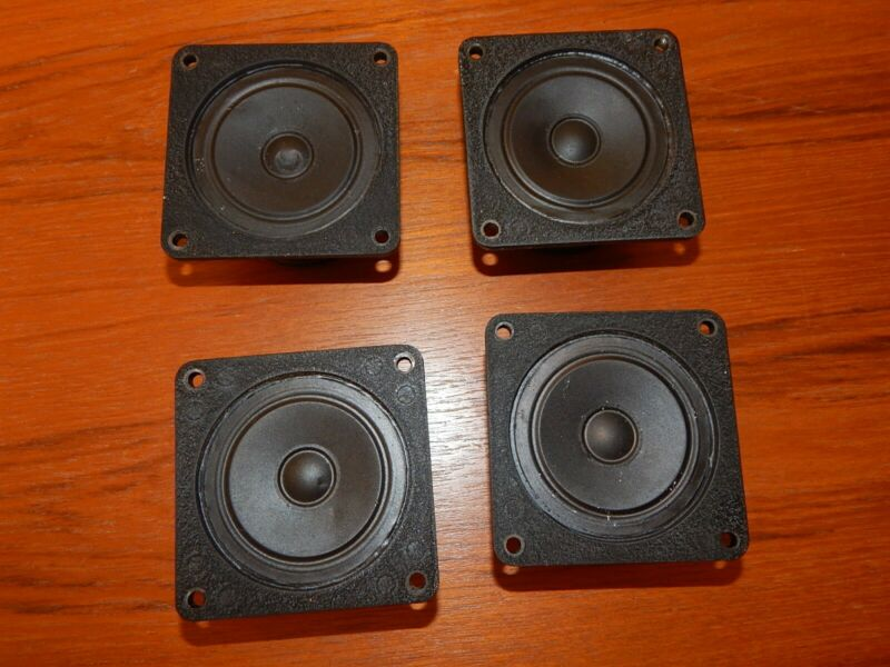 Bozak B-200Y Tweeter Set Of 4 Beautiful Natural Treble Sound Speakers