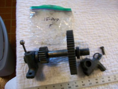 Back Gear Assembly 10-250x From Vintage 10 Atlas Metal Lathe Th48 Nice Shape