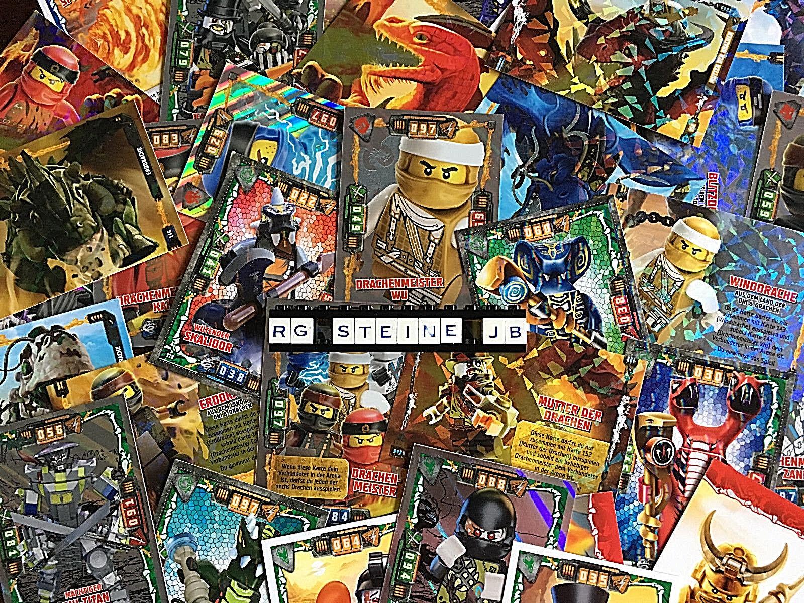 Lego Ninjago Serie 4 Trading Card Game aus allen 252 Sammelkarten aussuchen Neu