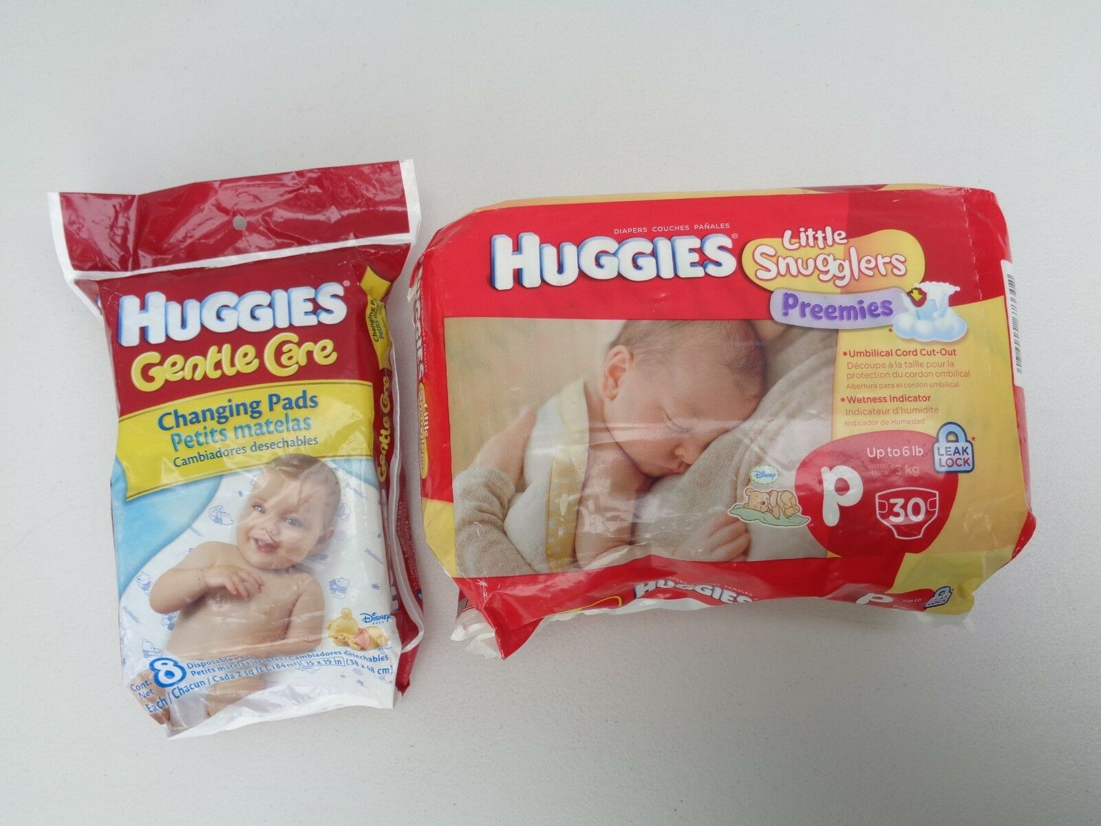 Huggies Gentle Care 8 Disposable Changing Pads~Little Snuggl