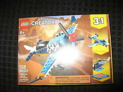 Lego Creator Propeller Plane (31099) Brand New in Unopened Box 128pcs T004
