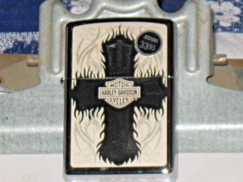 A New ZIPPO Windproof Lighter 28982 Harley Davidson Motor Cycles Christian Cross