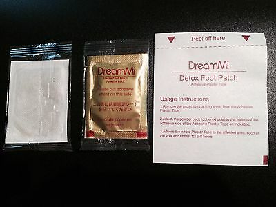 20 Pcs DreamMi GOLD Premium Detox Foot Patch Organic Herbal Cleansing Unisex
