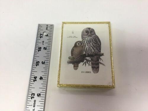OWL BOOKPLATES | Antioch Bookplate Company | URAL OWL Design | Vintage 1970s