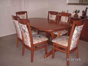 Australian crafted furniture Dining Table and 6 chairs Point Clare Gosford Area Preview